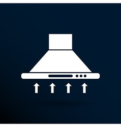 Kitchen hood icon symbol extractor sign vector