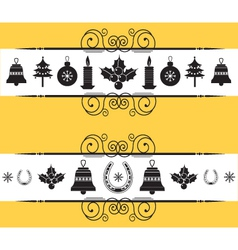 Christmas decor elements for designnew year back vector