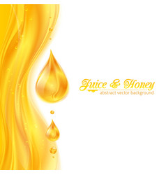 Honey colors juicy background with drops vector