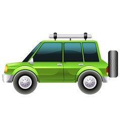 A green van vector