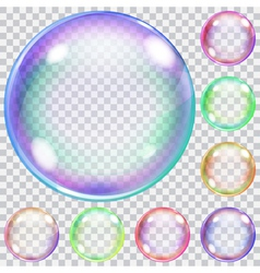 Transparent soap bubbles vector