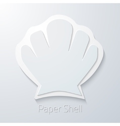 Summer travel paper sea shell flat icon vector