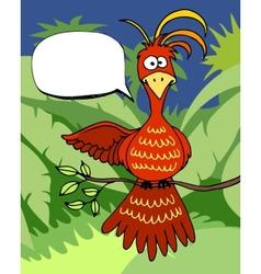 Cute cartoon bird with a speech bubble vector