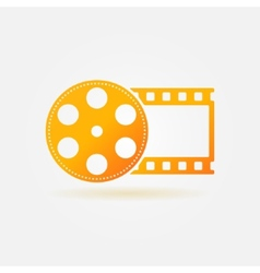 Gold cinema or movie logo vector