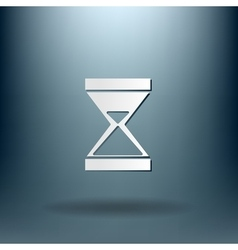 Hourglass waiting icon expectations vector