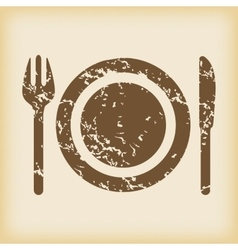 Grungy dishware icon vector