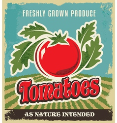 Retro tomato vintage advertising poster vector