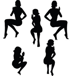 Woman silhouette with hand gesture mouth to mouth vector