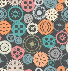 Gear seamless background vector