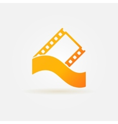 Film strip concept logo or icon vector