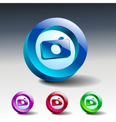 Camera icon symbol lens photo vector