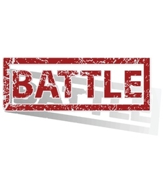 Battle outlined stamp vector