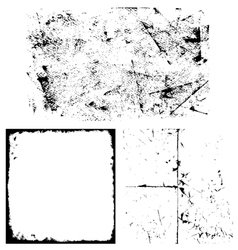 Grunge overlay set vector