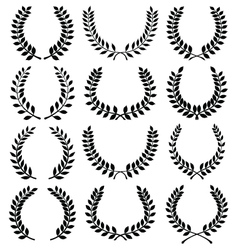 Laurel wreaths vector