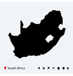 High detailed map of south africa with navigation vector