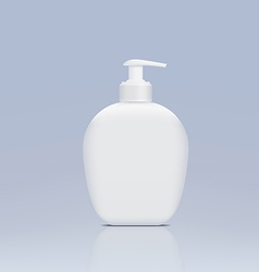 Plastic bottle with a dispenser for liquid soap vector