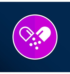 Pill icon tablet pain chemistry aspirin isolated vector