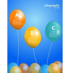 Balloon infographic on blue background vector