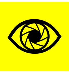 Eye on a yellow background vector