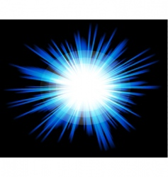 Light sparkle with blue colours vector