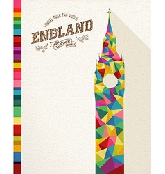 Travel england landmark polygonal monument vector