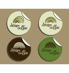 Set of unusual brand identity - dream coffee vector