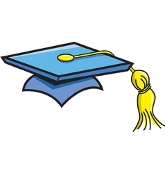 Cartoon graduation cap vector