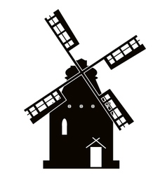 Windmill sign vector