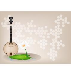 Musical dan nguyet background vector
