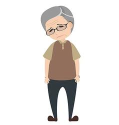 Depressed old man vector