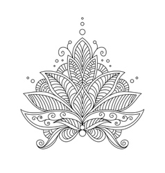 Intricate delicate floral design motif vector