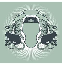 Heraldry crest vector