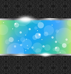 Abstract floral banner background vector