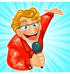 Tv presenter vector