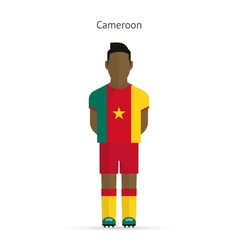 Cameroon football player soccer uniform vector