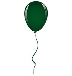 Drak green balloon ribbon vector