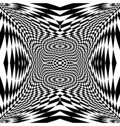 Design monochrome movement checkered background vector