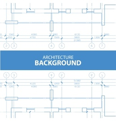 Architecture reflected blueprint background vector