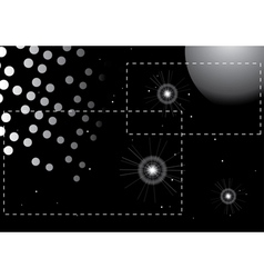 Black and white universe vector