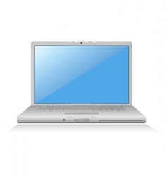 Laptop blue screen vector
