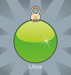 Libya flag on bulb vector