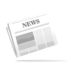 Folded newspaper icon with news header vector