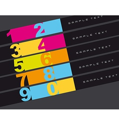 Design templates numbered vector