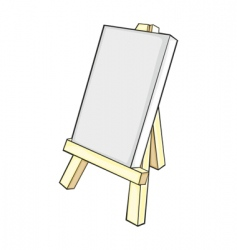 Isolated easel vector