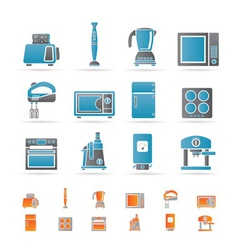 Kitchen and home equipment icons vector
