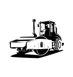 Road roller retro vector
