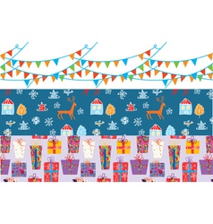 Christmas banner set with patterns vector
