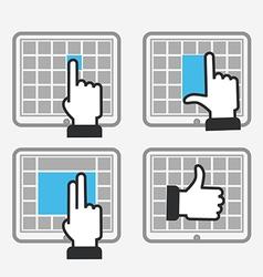 Modern tile interface vector
