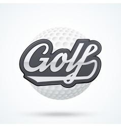 Premium golf label vector