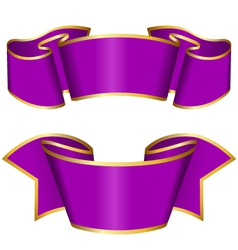 Purple ribbon collection vector